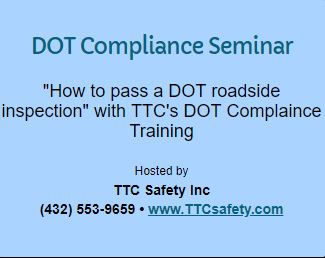 DOT Compliance Training Odessa Texas